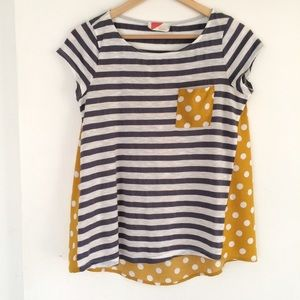 Paper Locket Backstory Polka Dot Tee S